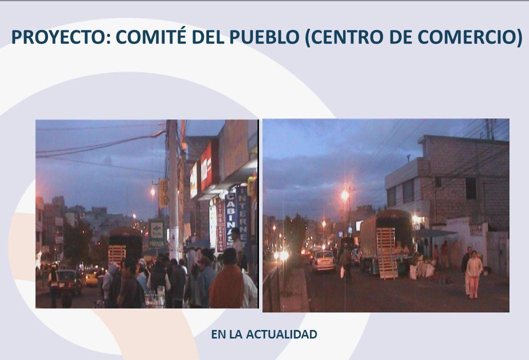 PROYECTO: COMITÉ DEL PUEBLO (CENTRO DE COMERCIO)