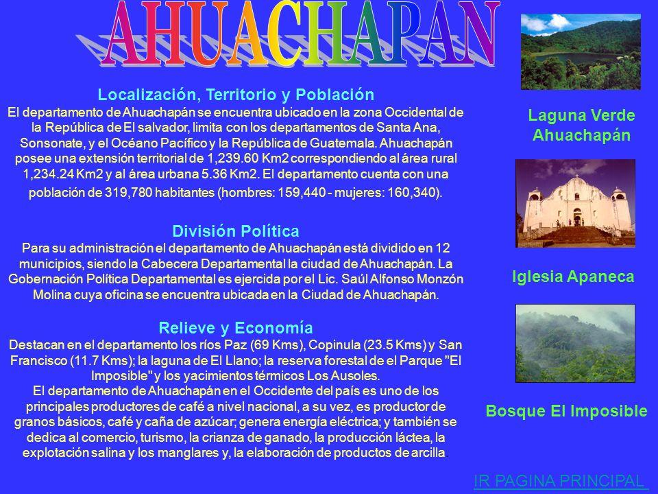 . AHUACHAPAN Localización, Territorio y Población