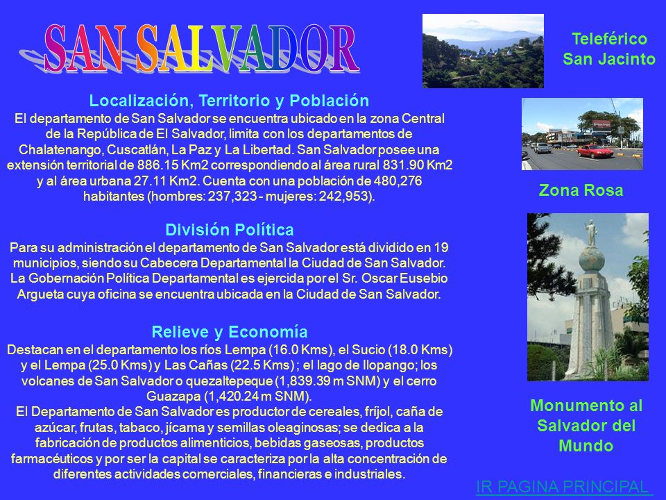 SAN SALVADOR Teleférico San Jacinto