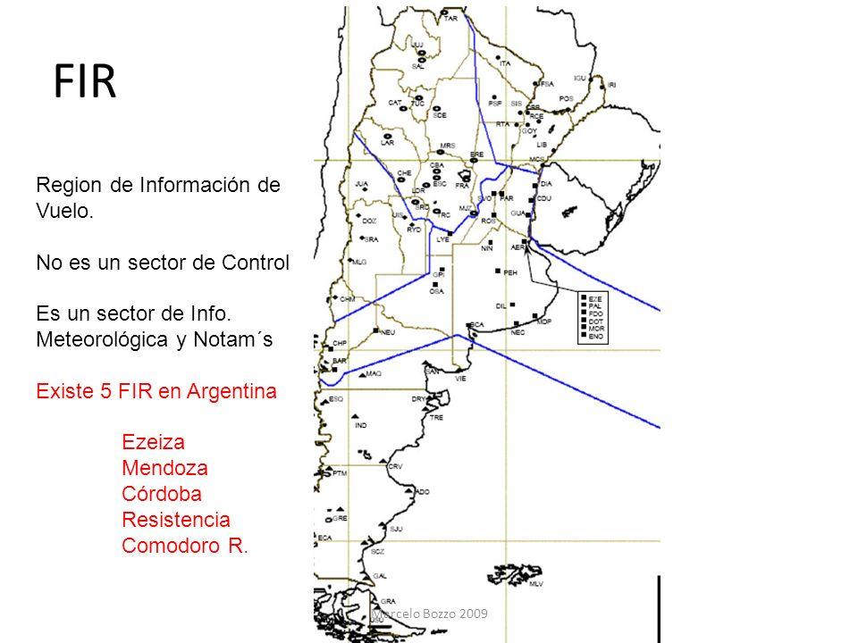 FIR Region de Información de Vuelo. No es un sector de Control