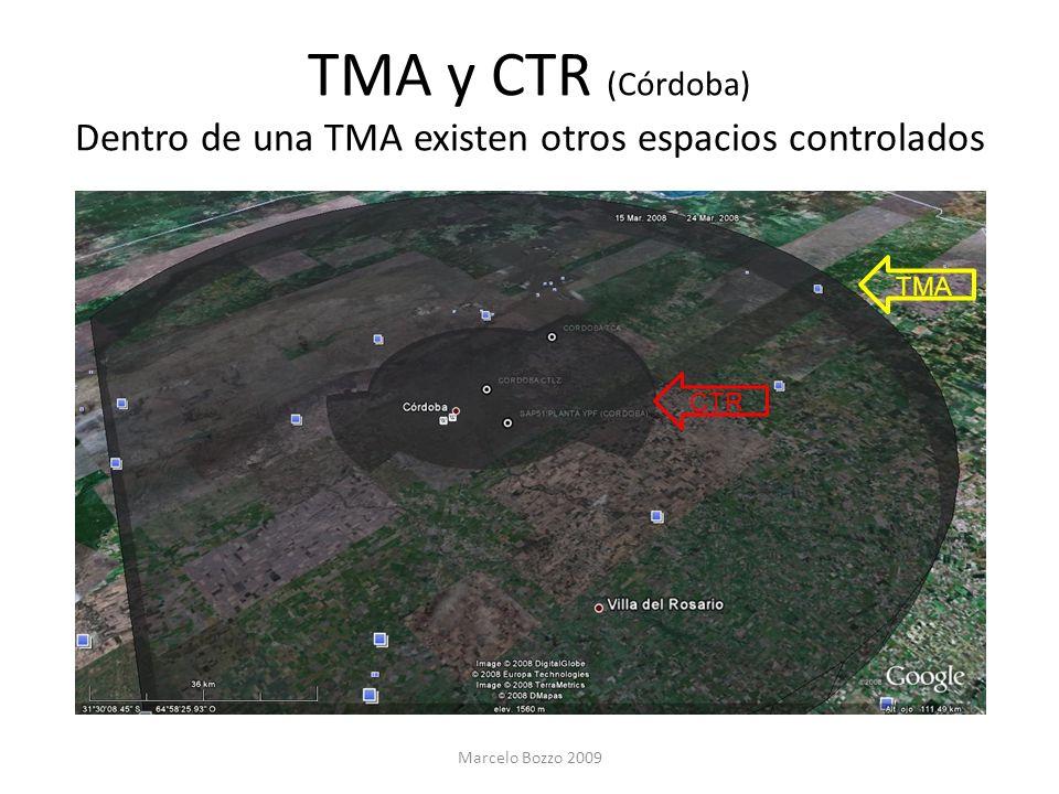 TMA y CTR (Córdoba) Dentro de una TMA existen otros espacios controlados