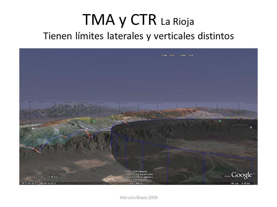 TMA y CTR La Rioja Tienen límites laterales y verticales distintos