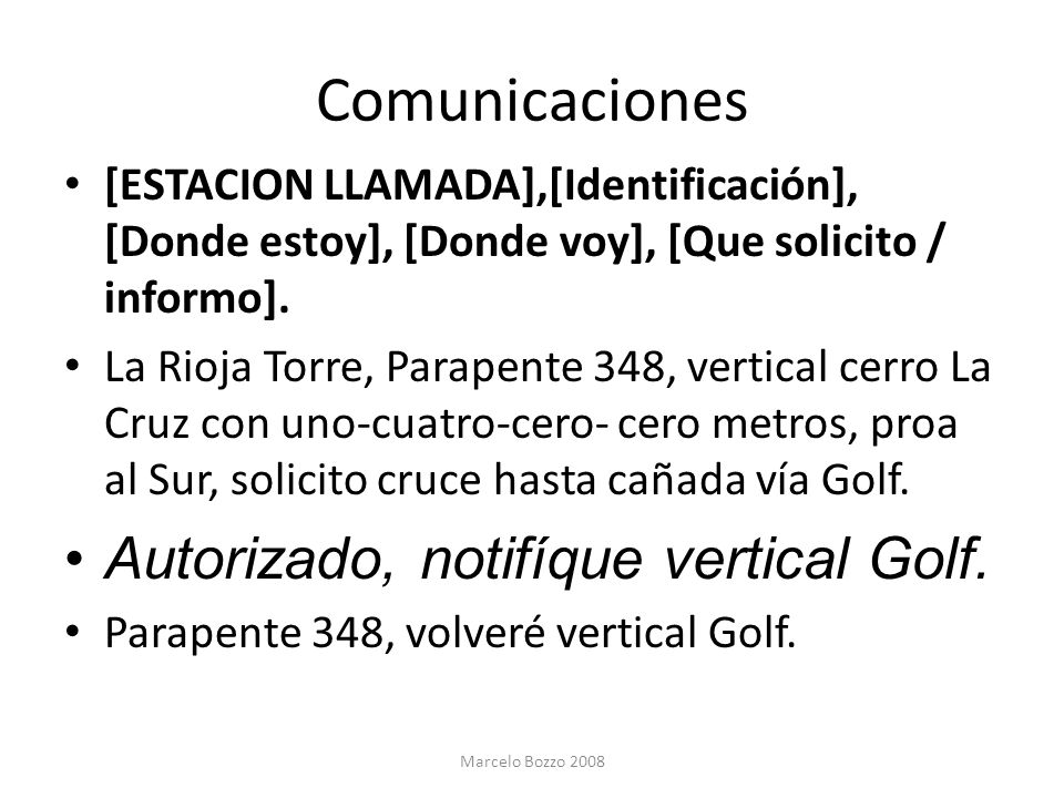 Comunicaciones Autorizado, notifíque vertical Golf.