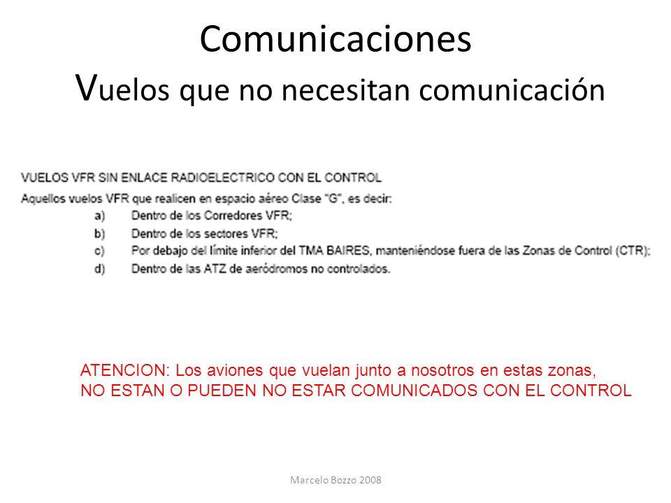 Comunicaciones Vuelos que no necesitan comunicación