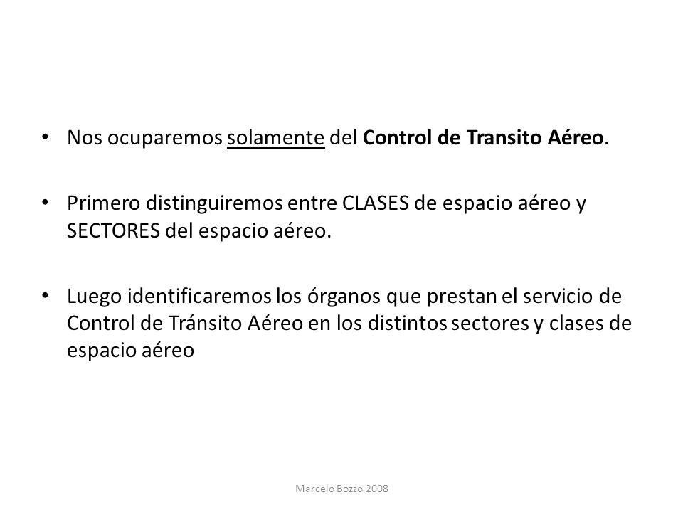 Nos ocuparemos solamente del Control de Transito Aéreo.