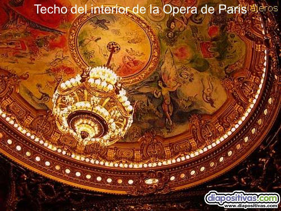 Techo del interior de la Opera de Paris