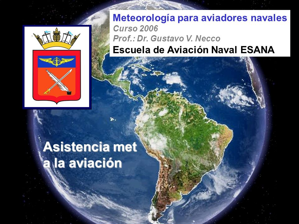 Asistencia met a la aviación Meteorología para aviadores navales