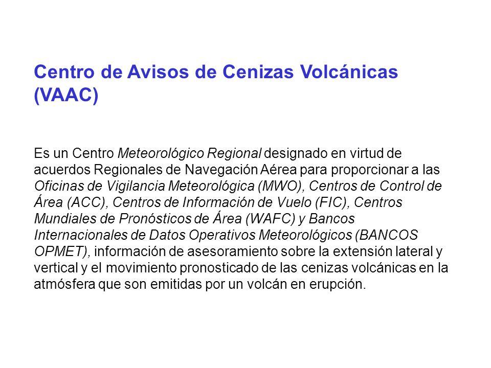 Centro de Avisos de Cenizas Volcánicas (VAAC)