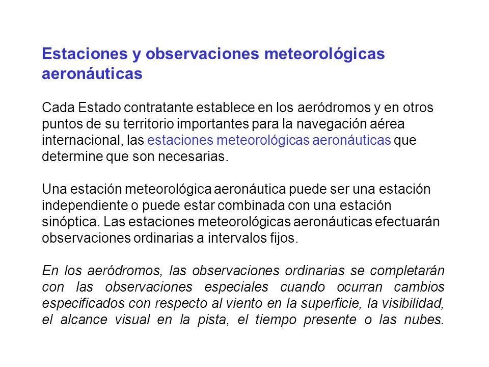 Estaciones y observaciones meteorológicas aeronáuticas