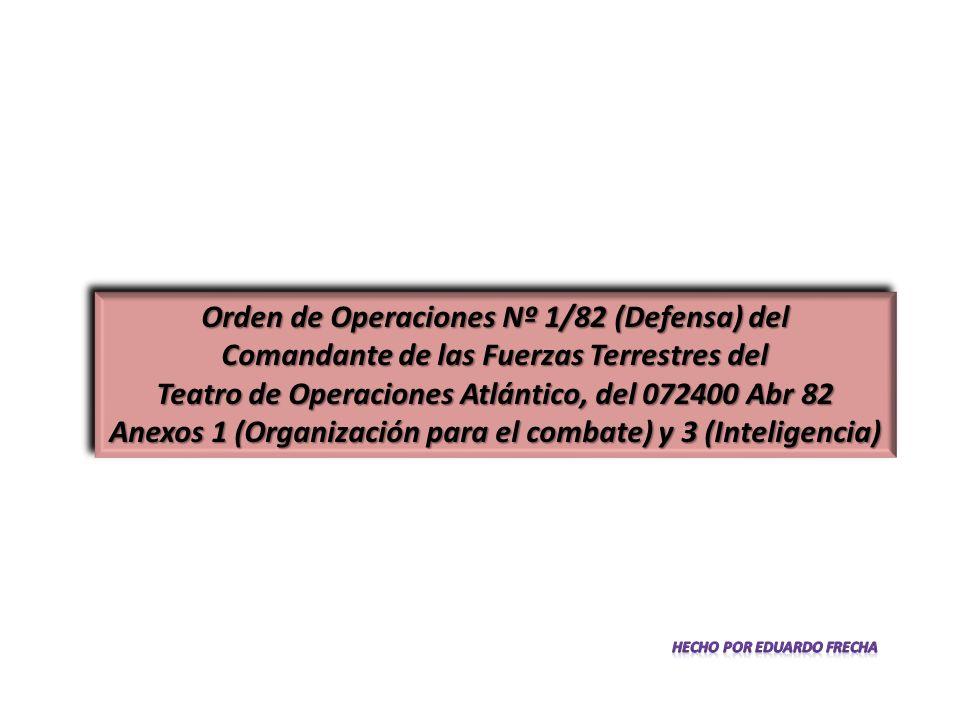 Orden de Operaciones Nº 1/82 (Defensa) del