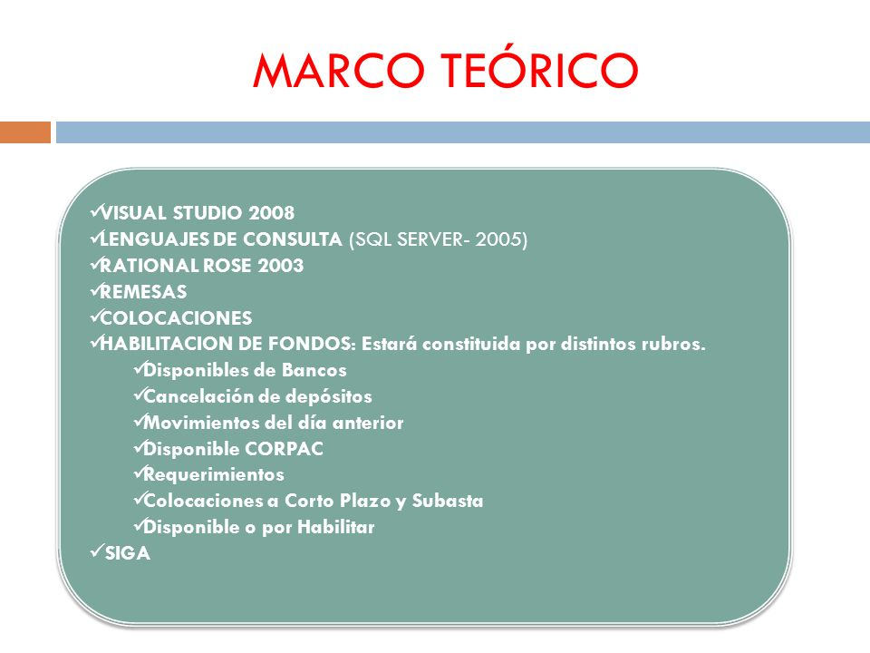 MARCO TEÓRICO VISUAL STUDIO 2008