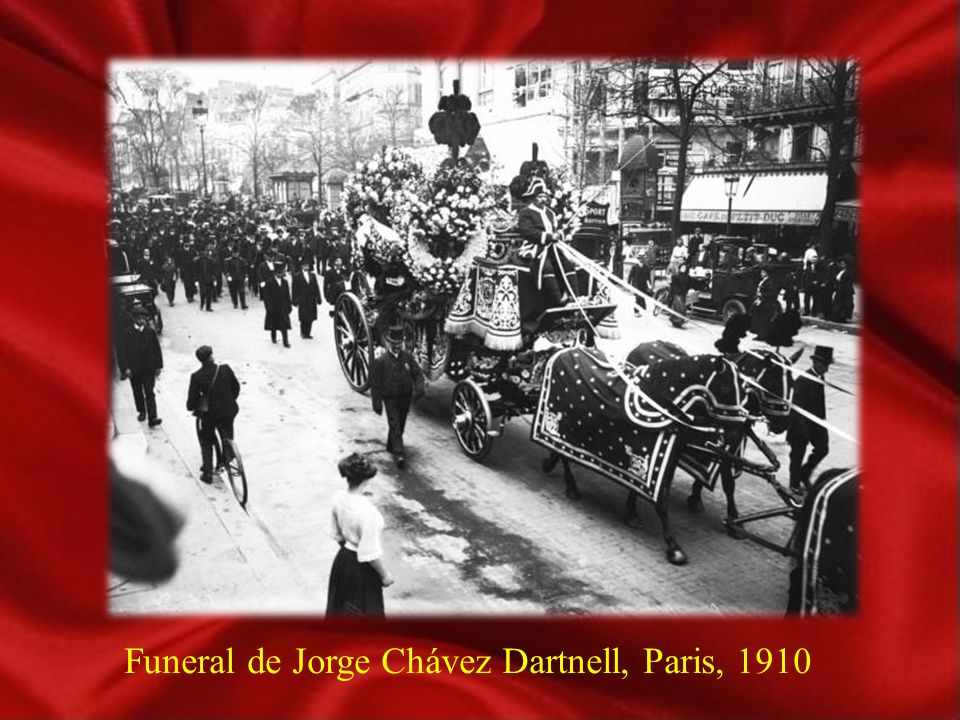Funeral de Jorge Chávez Dartnell, Paris, 1910