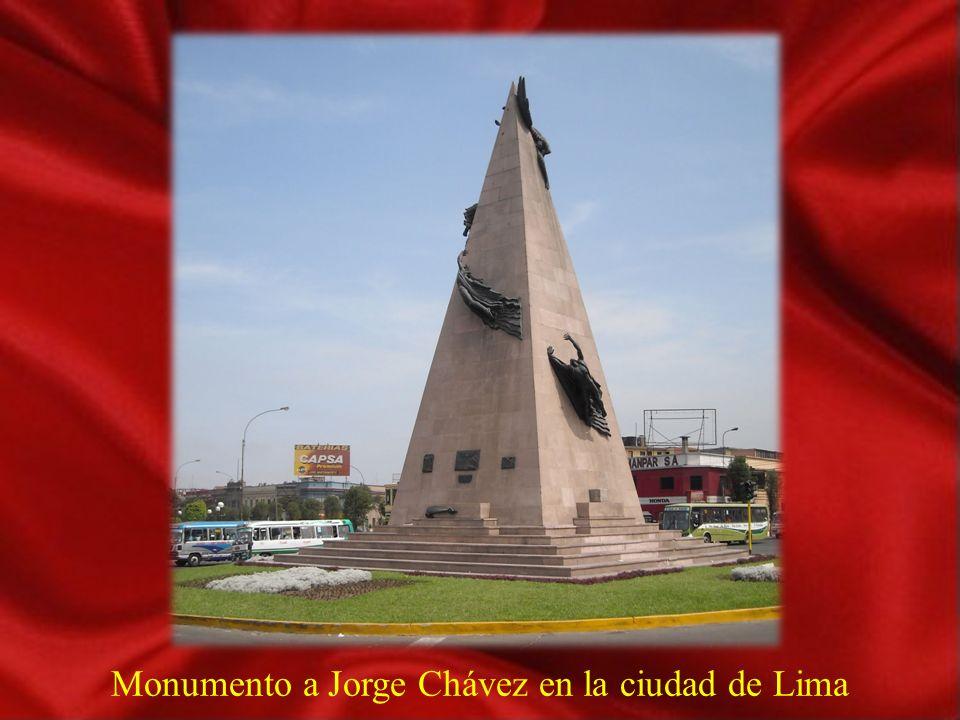 Monumento a Jorge Chávez en la ciudad de Lima