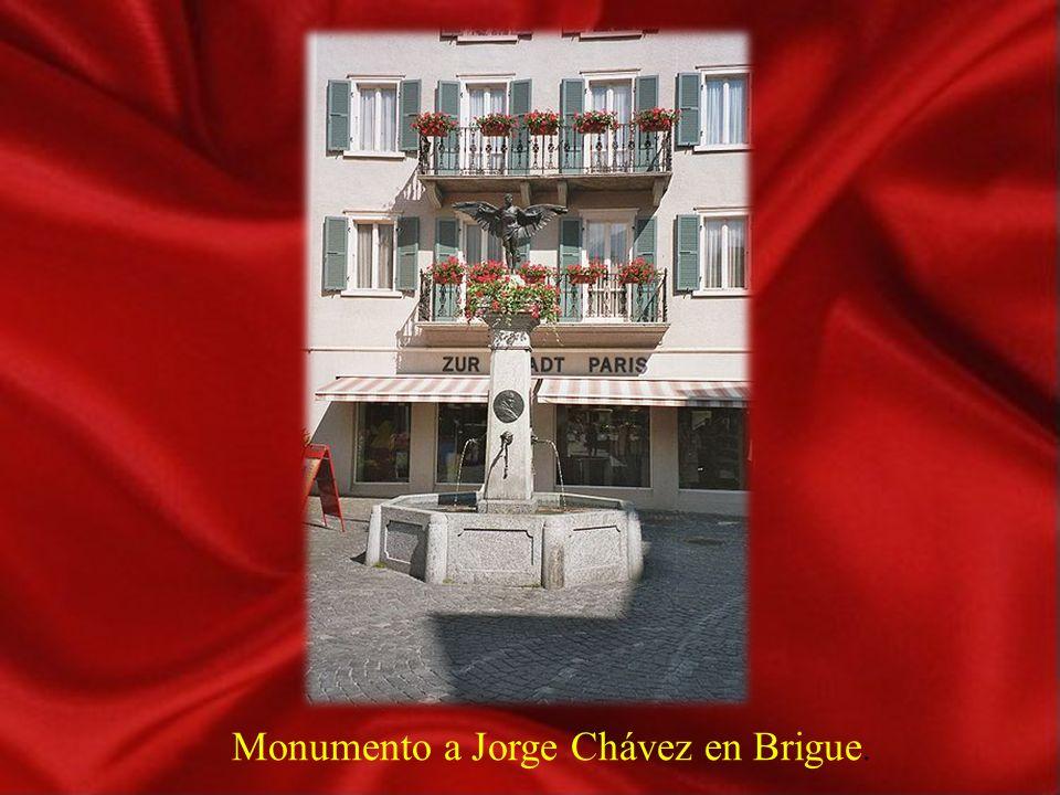 Monumento a Jorge Chávez en Brigue.