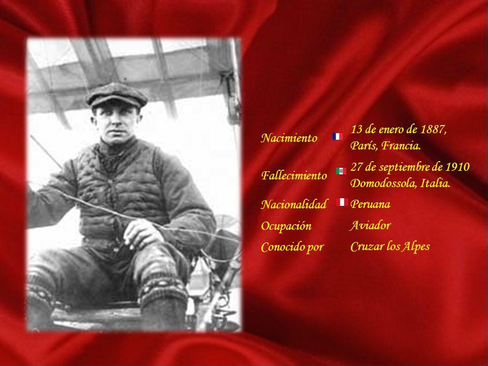 Nacimiento 13 de enero de 1887, París, Francia. Fallecimiento. 27 de septiembre de 1910 Domodossola, Italia.