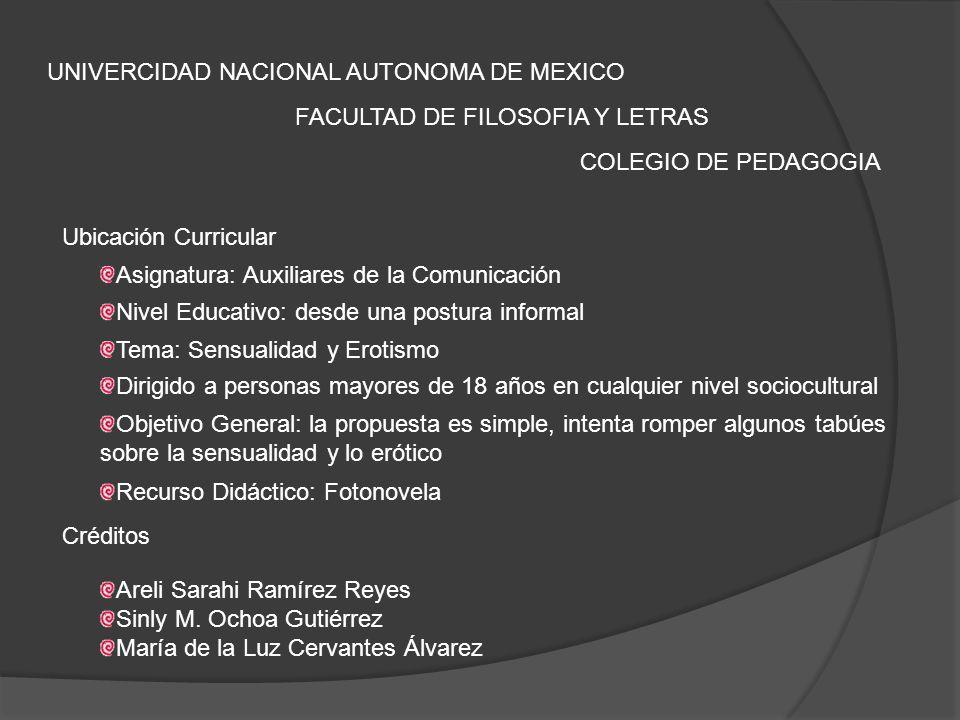 UNIVERCIDAD NACIONAL AUTONOMA DE MEXICO