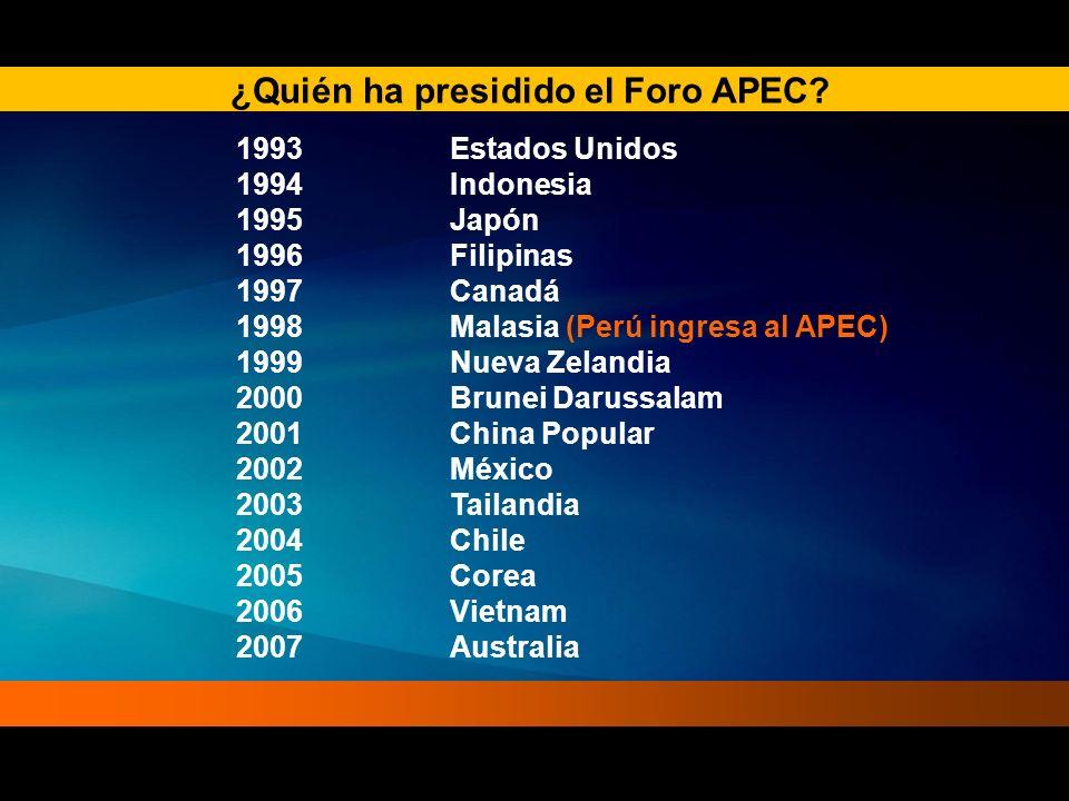 ¿Quién ha presidido el Foro APEC