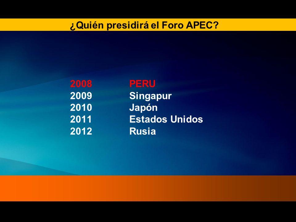 ¿Quién presidirá el Foro APEC
