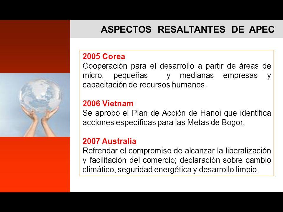 ASPECTOS RESALTANTES DE APEC