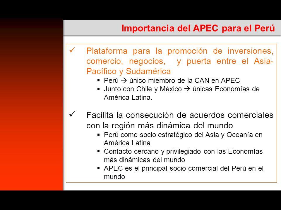 Importancia del APEC para el Perú