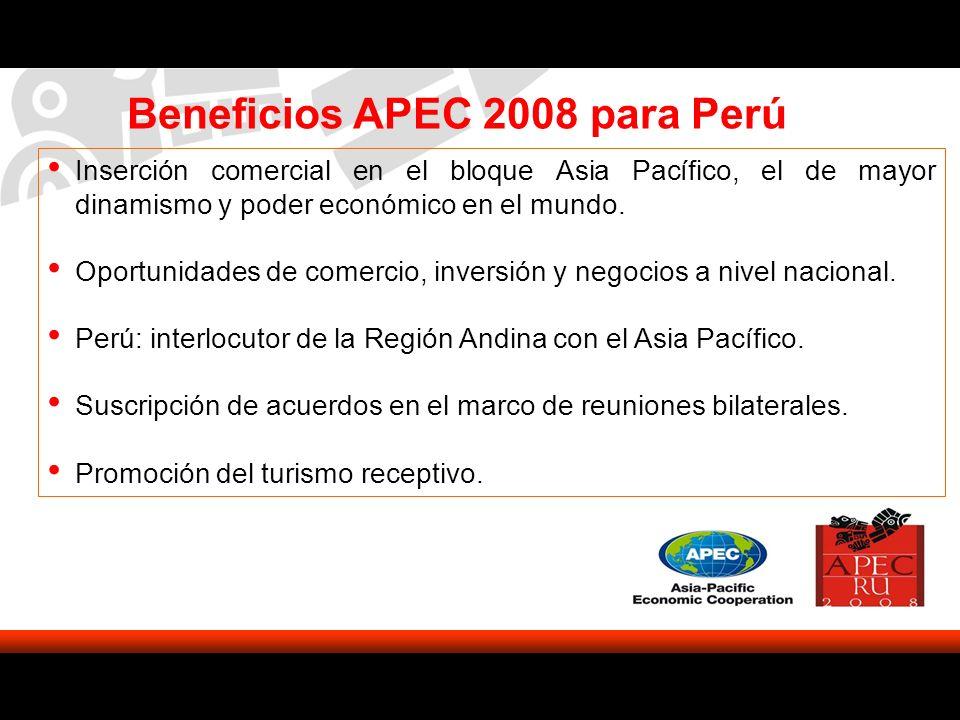 Beneficios APEC 2008 para Perú