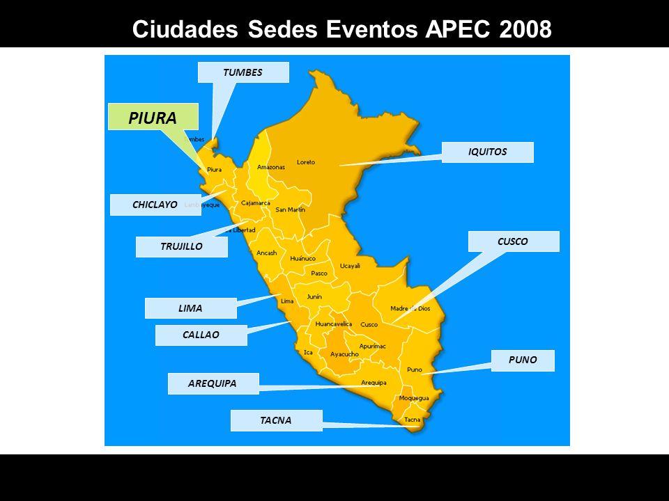Ciudades Sedes Eventos APEC 2008