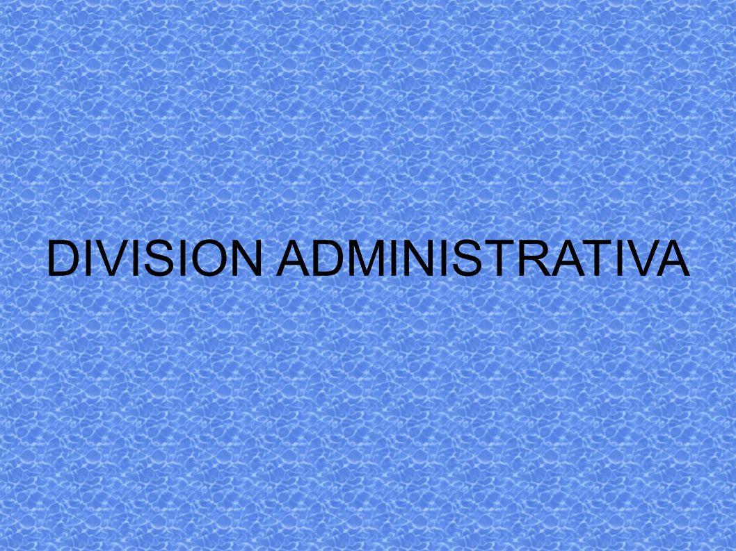 DIVISION ADMINISTRATIVA