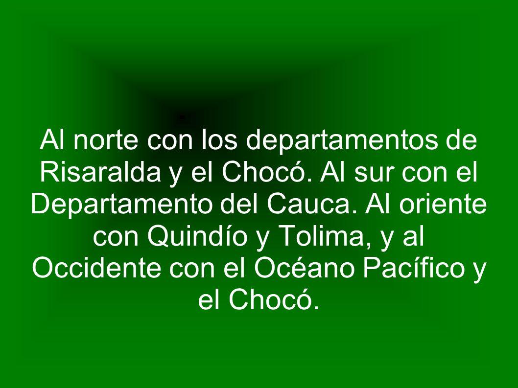 Al norte con los departamentos de Risaralda y el Chocó