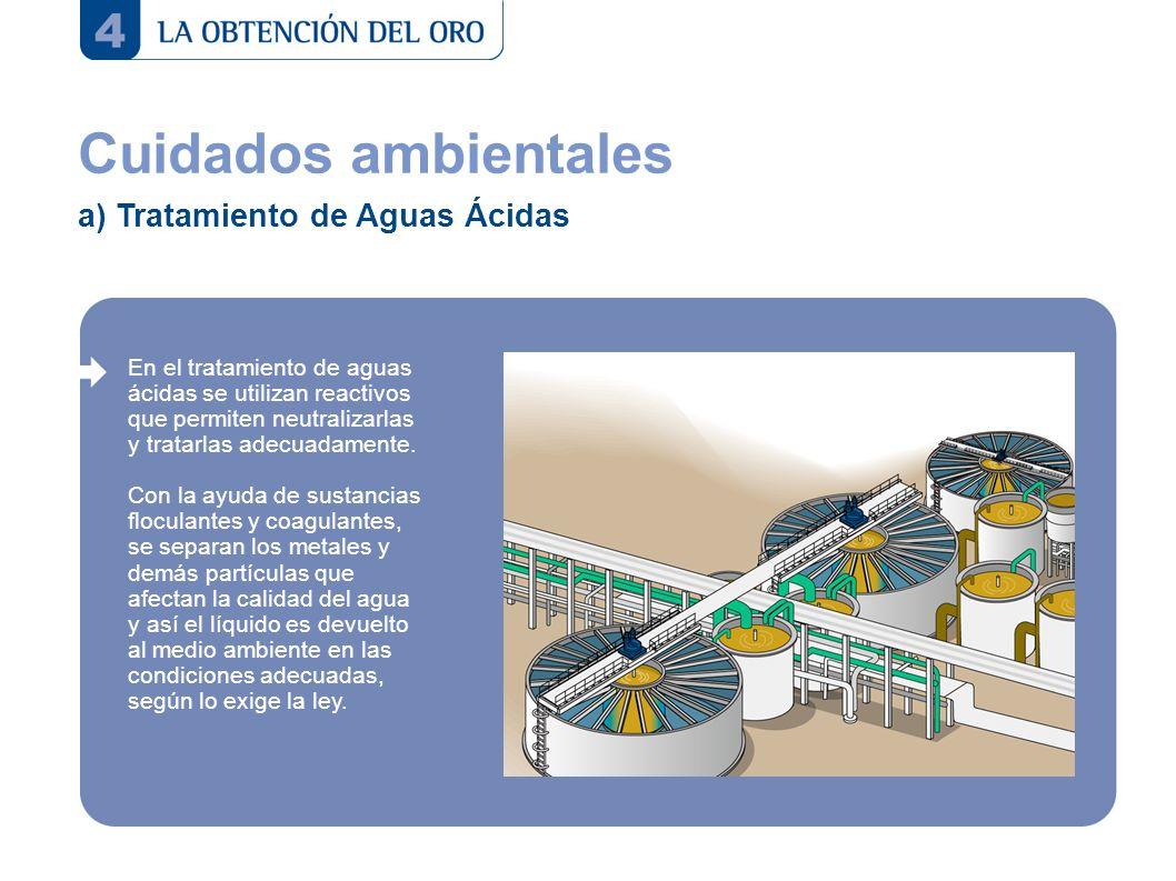 Cuidados ambientales a) Tratamiento de Aguas Ácidas