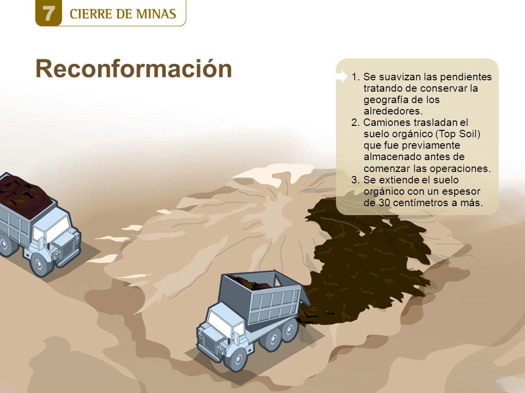 Reconformación 1. Se suavizan las pendientes tratando de conservar la geografía de los alrededores.