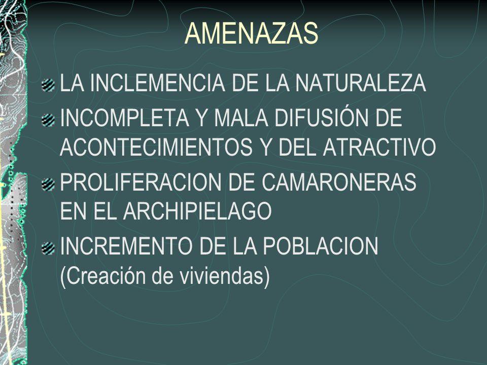 AMENAZAS LA INCLEMENCIA DE LA NATURALEZA
