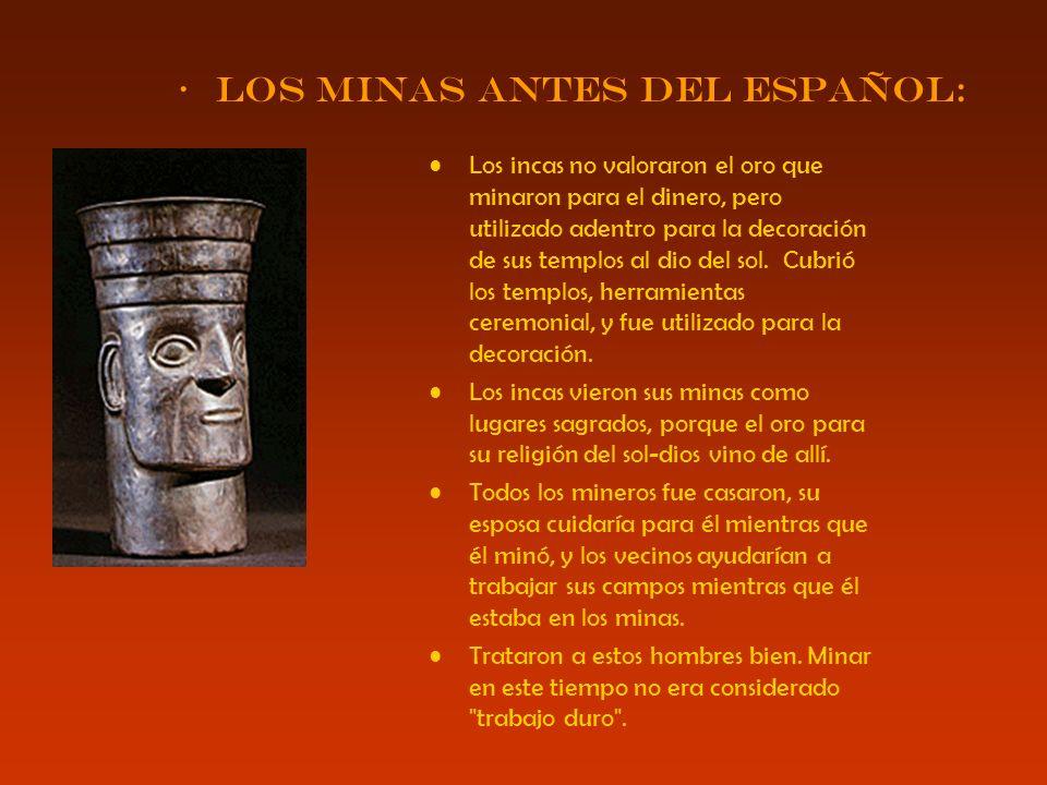 Los minas antes del español: