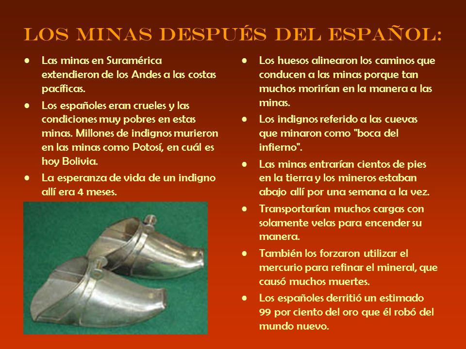 Los minas después del español: