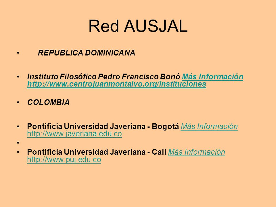 Red AUSJAL REPUBLICA DOMINICANA
