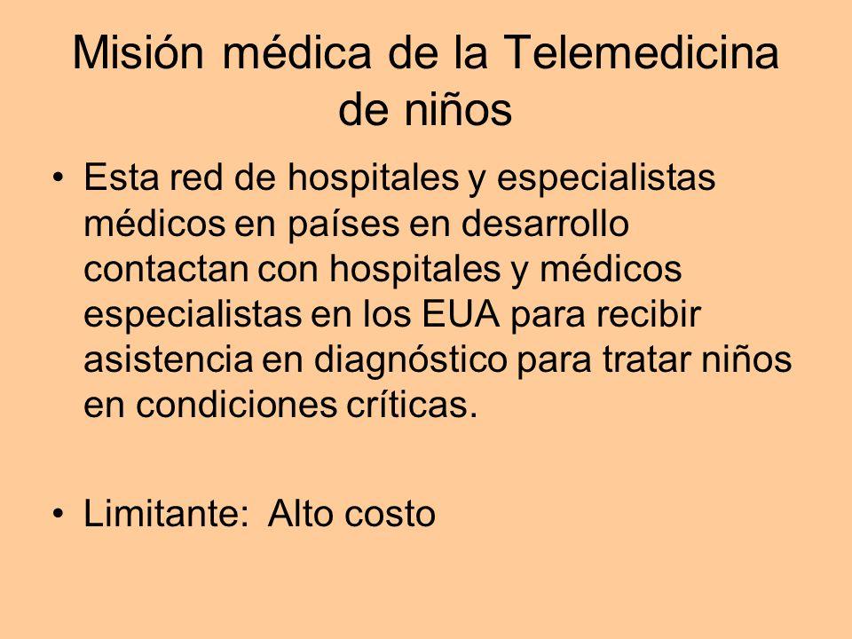 Misión médica de la Telemedicina de niños