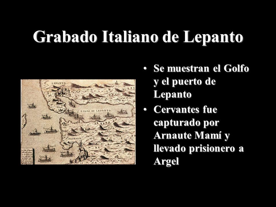 Grabado Italiano de Lepanto