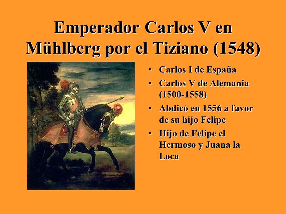 Emperador Carlos V en Mühlberg por el Tiziano (1548)