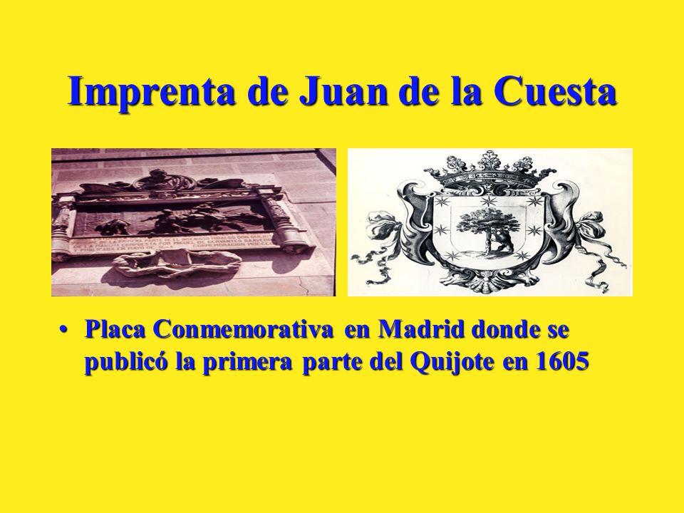 Imprenta de Juan de la Cuesta