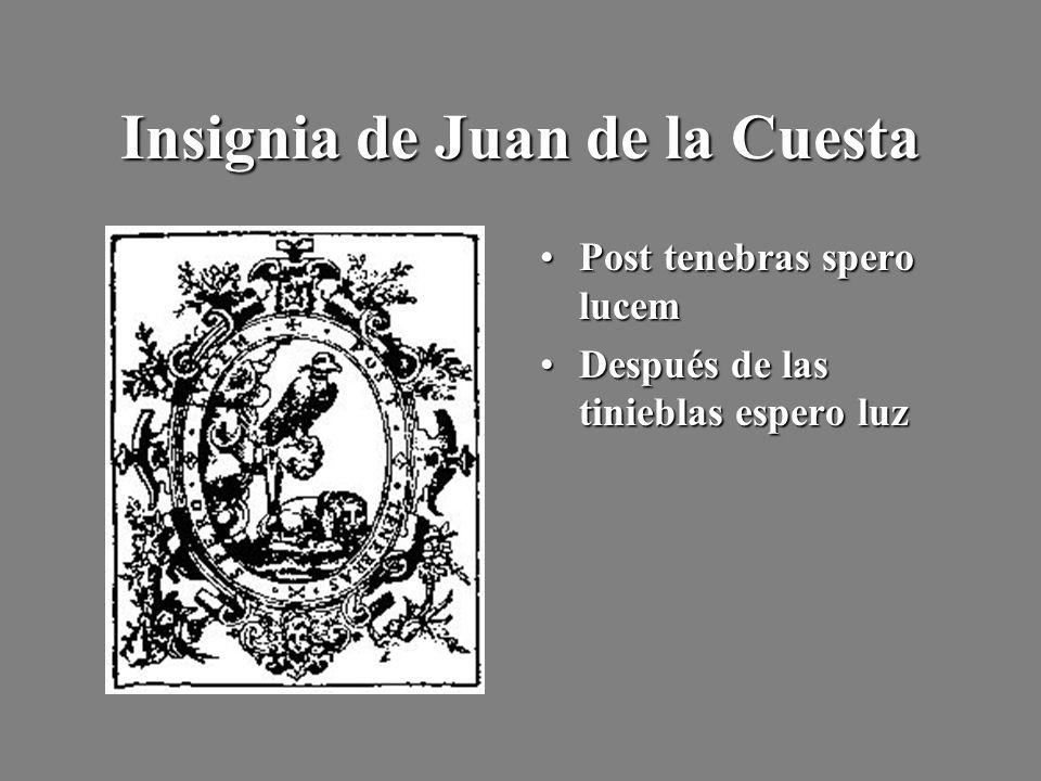 Insignia de Juan de la Cuesta