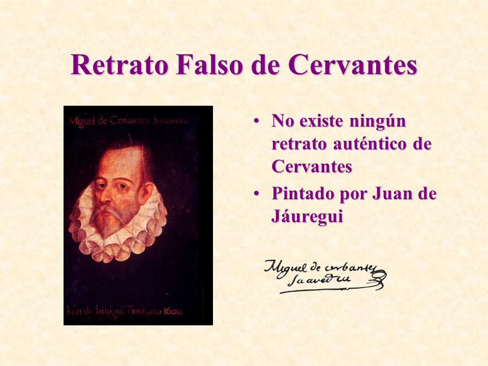 Retrato Falso de Cervantes