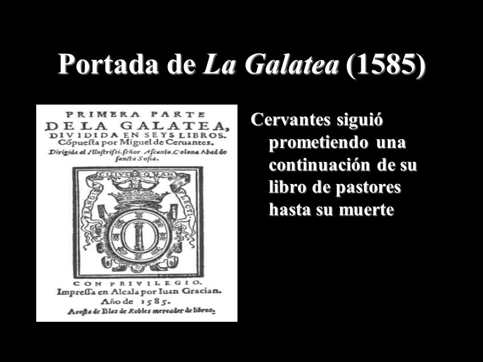 Portada de La Galatea (1585)