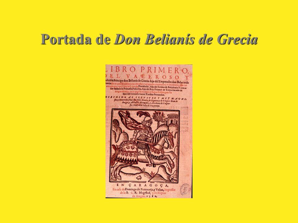 Portada de Don Belianís de Grecia