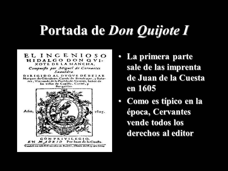 Portada de Don Quijote I