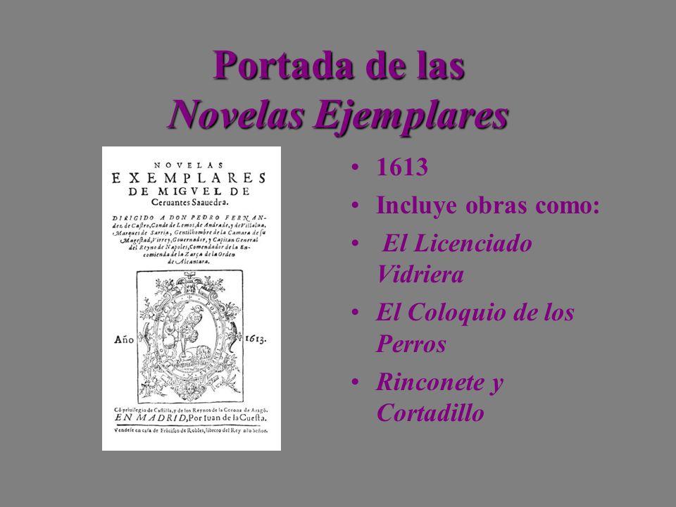 Portada de las Novelas Ejemplares