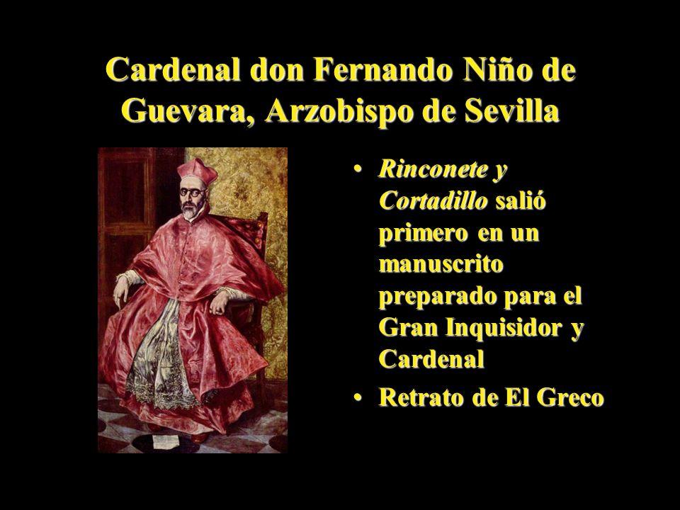 Cardenal don Fernando Niño de Guevara, Arzobispo de Sevilla