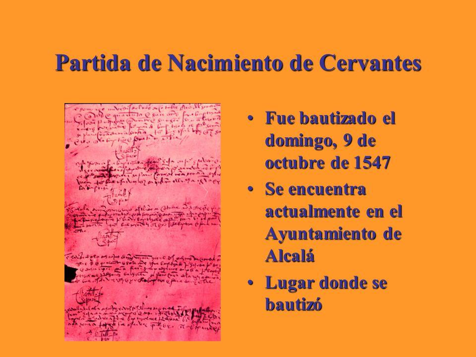 Partida de Nacimiento de Cervantes