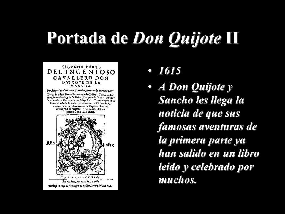 Portada de Don Quijote II