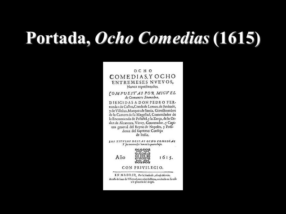 Portada, Ocho Comedias (1615)