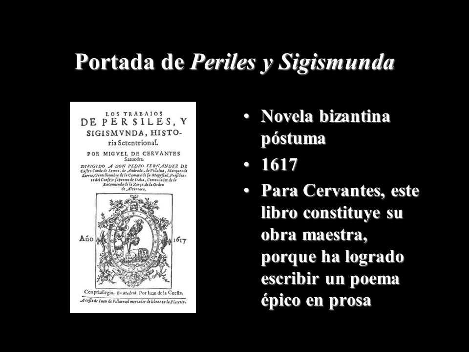 Portada de Periles y Sigismunda