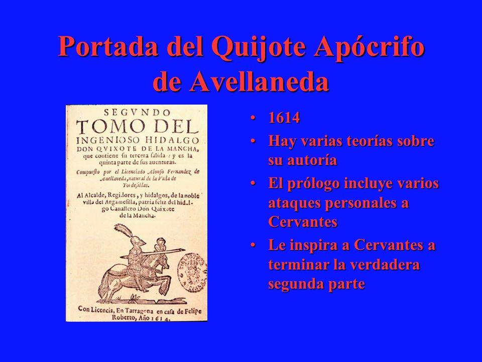 Portada del Quijote Apócrifo de Avellaneda